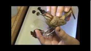 Making A Wren Out Of Wood Using Just Hand Carving Tools