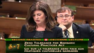 Remarks on Bill S-7:  Zero Tolerance for Barbaric Cultural Practices Act
