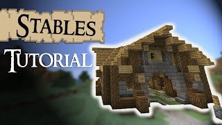 Minecraft Tutorial: Medieval HORSE STABLES