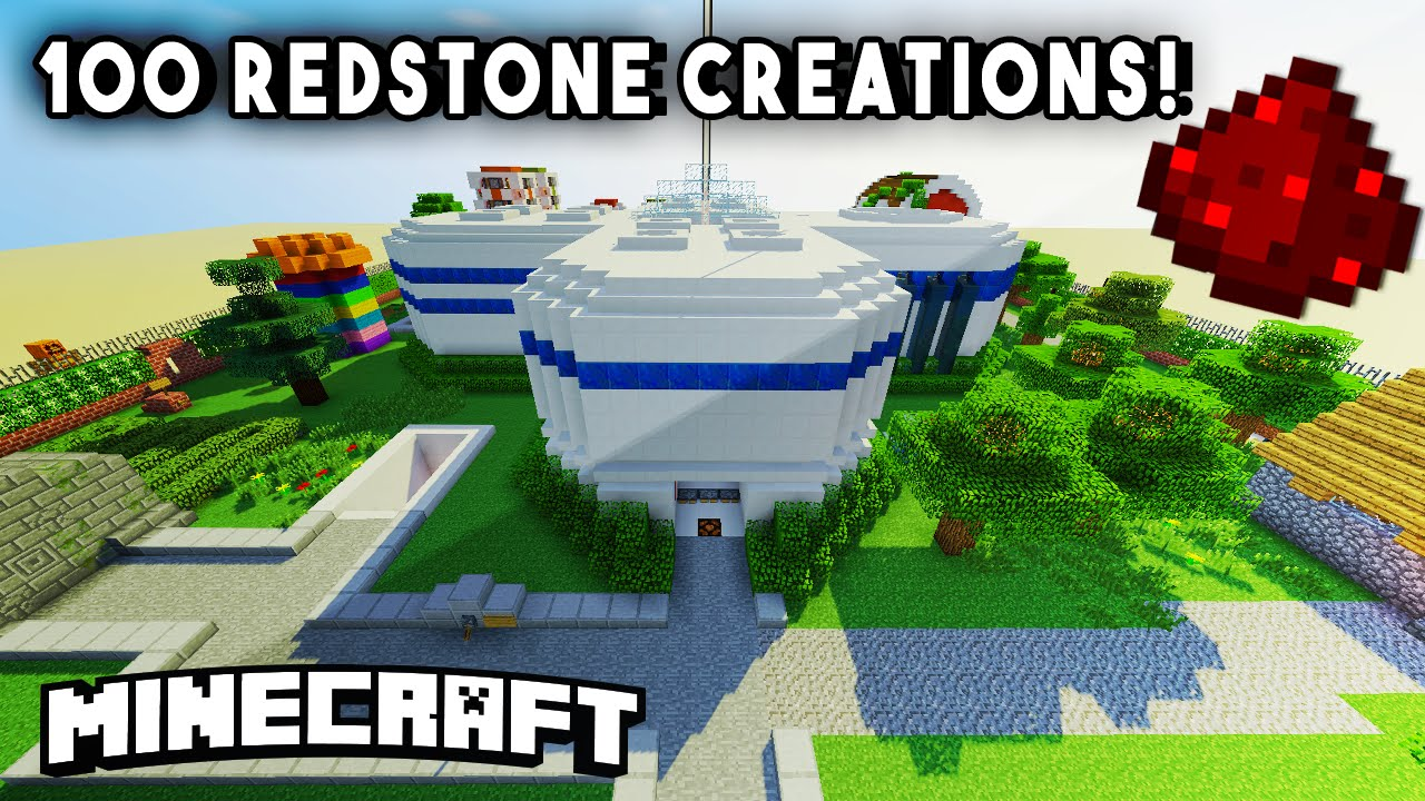 Incredible Redstone House W 100 Redstone Mechanisms Redstone Creations Part 1 Youtube