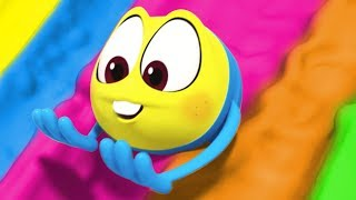 Learn Colors With GIANT SLIDE | Wonderballs by Cartoon Candy