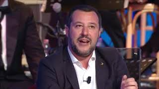 MATTEO SALVINI OSPITE AL MAURIZIO COSTANZO SHOW