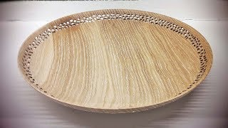 Woodturning and curve an oak platter !