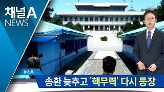 북미 기싸움…송환 늦추고 '핵무력' 다시 등장