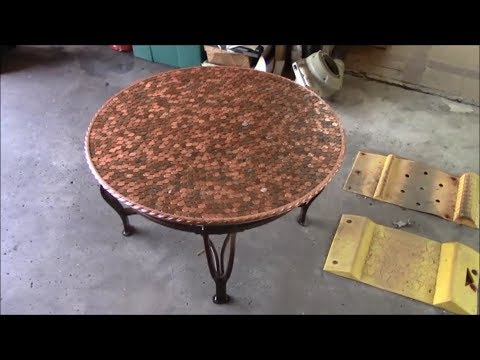 Penny Epoxy Table