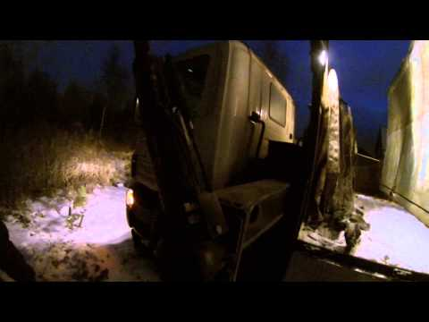 Перевозка гаража автогидроманипулятором