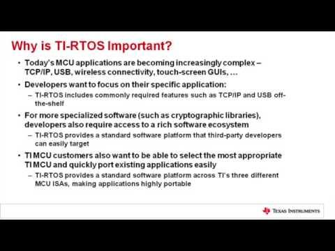 TI-RTOS - Texas Instruments Wiki