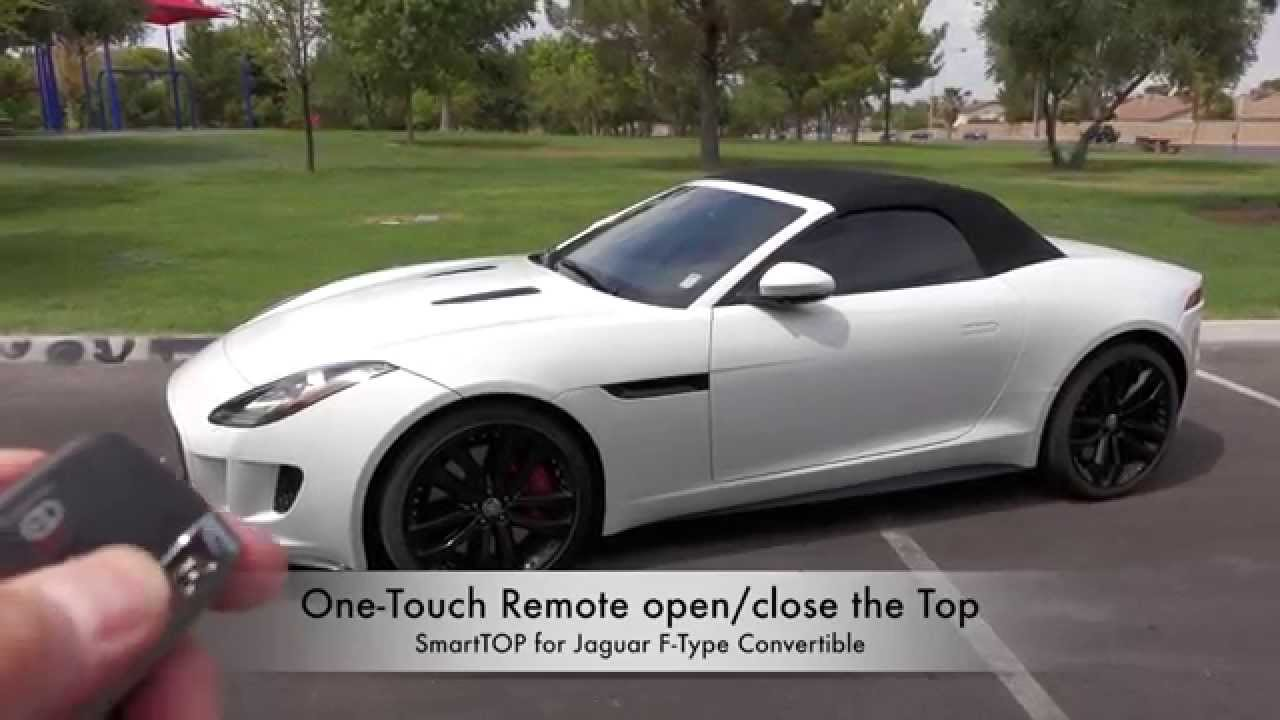 mods4cars smarttop for jaguar f type convertible one touch open close remote convertible. Black Bedroom Furniture Sets. Home Design Ideas