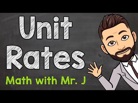 Unit Rates | Solving Unit Rate Problems