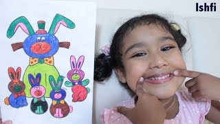 How to draw, paint & Color for Kids Children Ishfi's Art Time fun with Coloring & Drawing