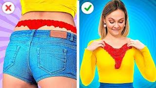 LAST MINUTE CLOTHING HACKS! || Beauty Hacks To Look Stunning with 123 Go! GENIUS