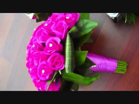 hot-pinks,-little-rose-bud-colleciton-artificial-wedding-flower