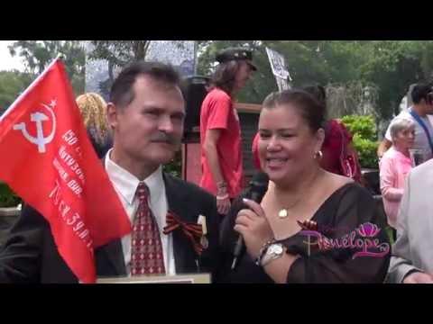 """""""Бессмертный полк"""".El acto """"Regimiento Inmortal"""".Costa Rica.TV.Canal 9 """"Hoy con Penélope"""" 8.05.16"""