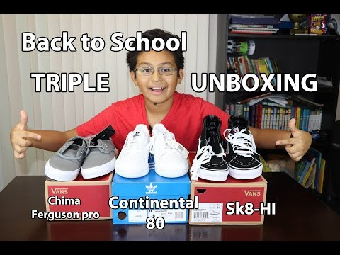 Triple Unboxing – Back to school Shoes, sneakers, Adidas Continental 80