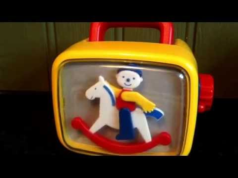 Vintage Wind Up Musical Rocking Horse TV Video Television Children's Moving Toy & Music Song Tune