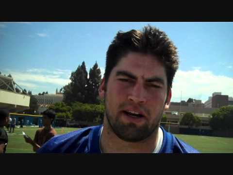 UCLA Junior LB #43 Steve Sloan Post-practice 8/18