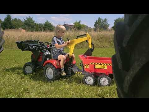 Трактор педальный с ковшом и прицепом от FALK 995W & 995N