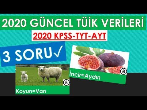 2020 GÜNCEL TÜİK VERİLERİ 2020 KPSS-TYT-AYT