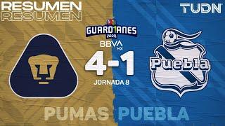 Resumen y goles | Pumas 4-1 Puebla | Guard1anes 2020 Liga MX - J8 | TUDN