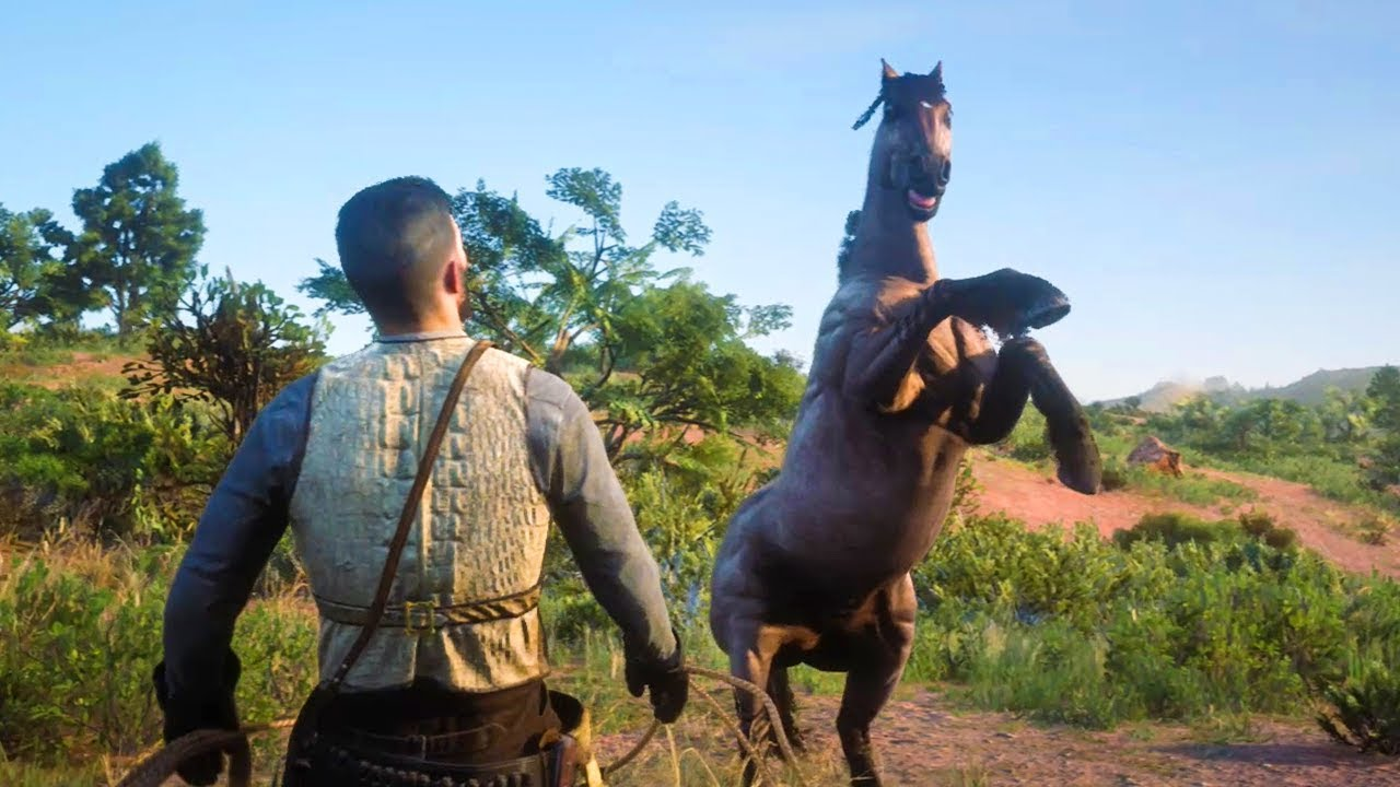 Taming Rare Tiger Striped Mustang Horse Red Dead Redemption 2