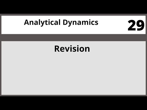 Analytical Dynamics in Hindi Urdu MTH382 LECTURE 29