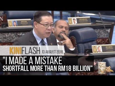 Guan Eng: I made a mistake, GST refund shortfall more than RM18 billion | KiniFlash - 13 August