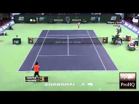 ATP Shanghai Rolex Masters 2013 ~ Round 3 Match   Highlights   Roger Federer Vs Gael Monfils