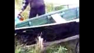 сделал лодку сам!!смотреть до конца)))