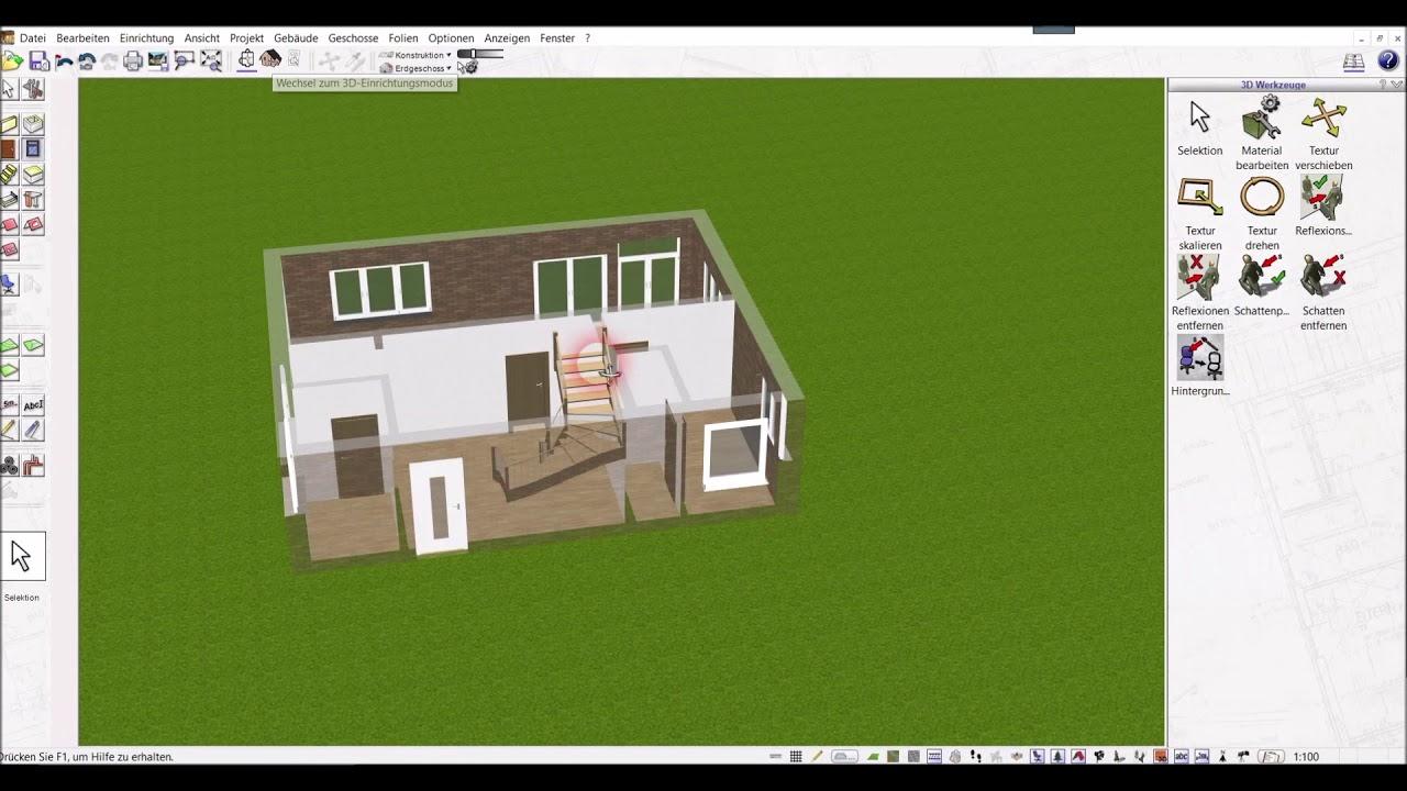 3d cad grundrissplaner software von plan7architekt - youtube
