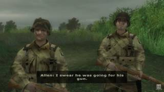 Normandy D-Day - Ambush at Exit 4 - Brothers in Arms Road to Hill 30 Gameplay HD
