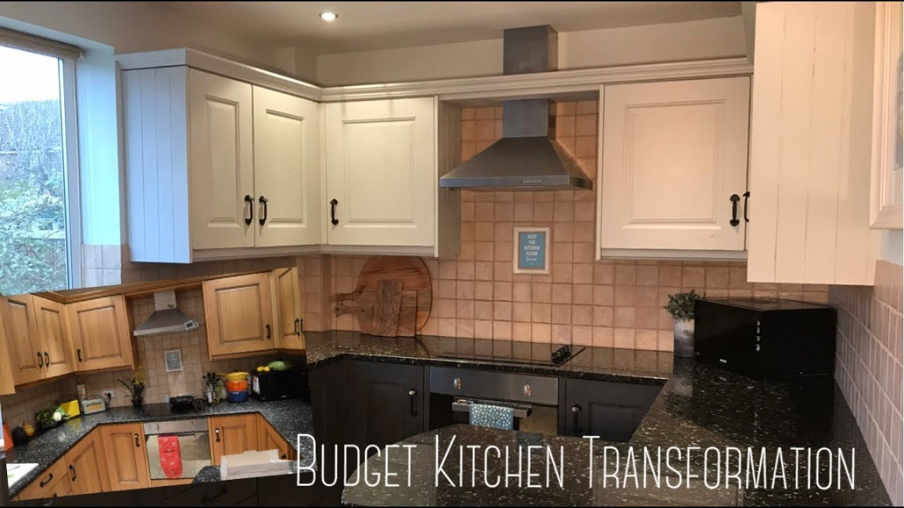 How to Paint Kitchen Cabinets   Chalk Paint   Budget Kitchen Transformation
