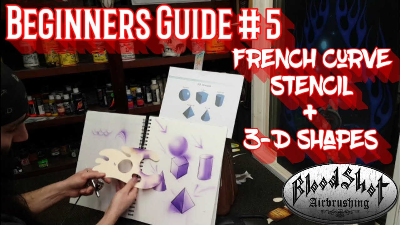 Airbrushing Tips for Beginners #5 Hand Cut Stencil and 3-D Shapes  Instructional Video