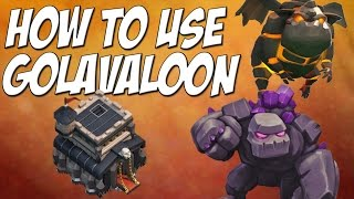 Clash of Clans: How To Golavaloon Attack Strategy TH9 - 3 Star Tutorial