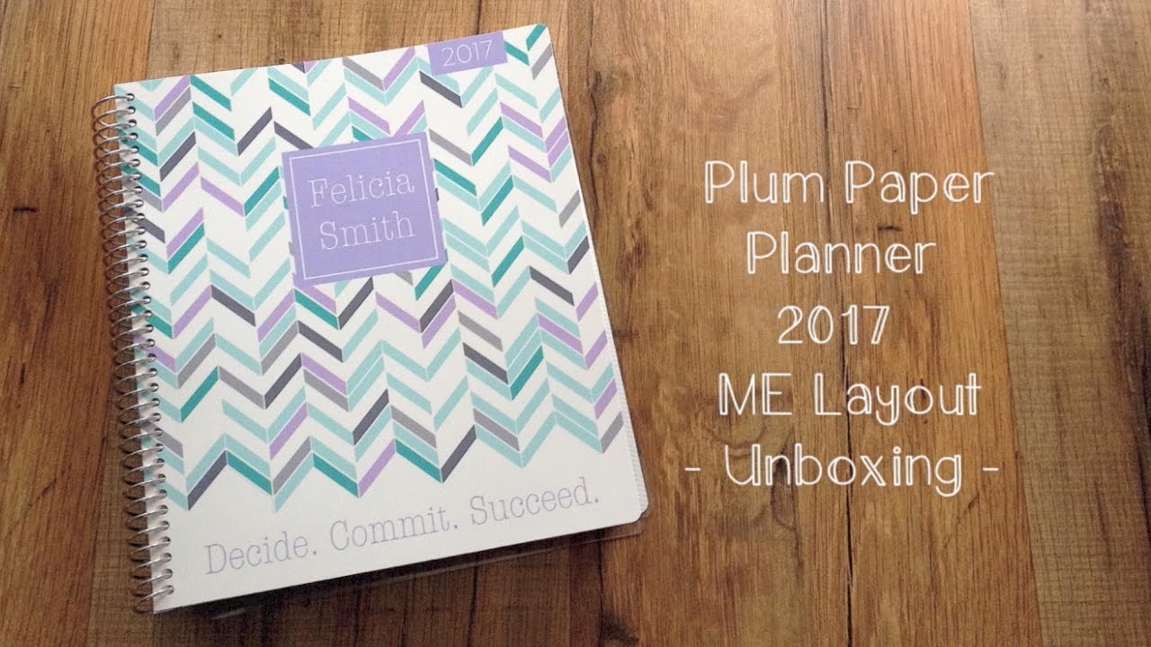 plum paper planner me family 2017 unboxing youtube