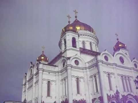 Bells ringing at the Cathedral of Christ the Savior in Moscow, Russia