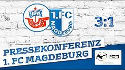 Pressekonferenz nach Rostock-Niederlage