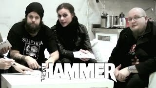 HIM Signing 1 000 Exclusive Postcards For The Tears On Tape Fanpack Edition Metal Hammer