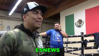 Canelo & Eddy Reynoso In Camp With Frank Sanchez Cuba Heavyweight | EsNews Boxing