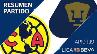 Resumen y Goles   América vs Pumas   Jornada 9 - Apertura 2019   Liga BBVA MX