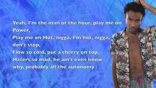 Childish Gambino - Dream / Southern Hospitality / Partna Dem - Lyrics