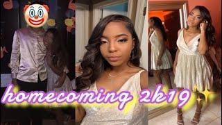 homecoming grwm (makeup, hair, vlog) 2019 ✨