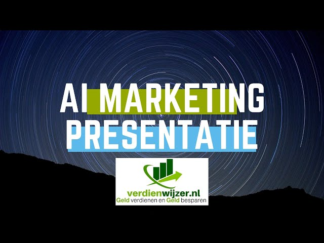 AI marketing presentatie