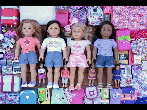 Packing For An American Girl Doll Sleepover!!