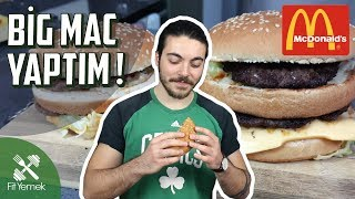BIG MAC YAPTIM! - McDonald's VS FitYemek