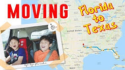 Moving from Florida to Texas | Self pack & Drive | Family road trip | 미국내 이사 자동차 횡단
