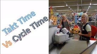 Takt Time vs Cycle Time - Cashier's Metaphor