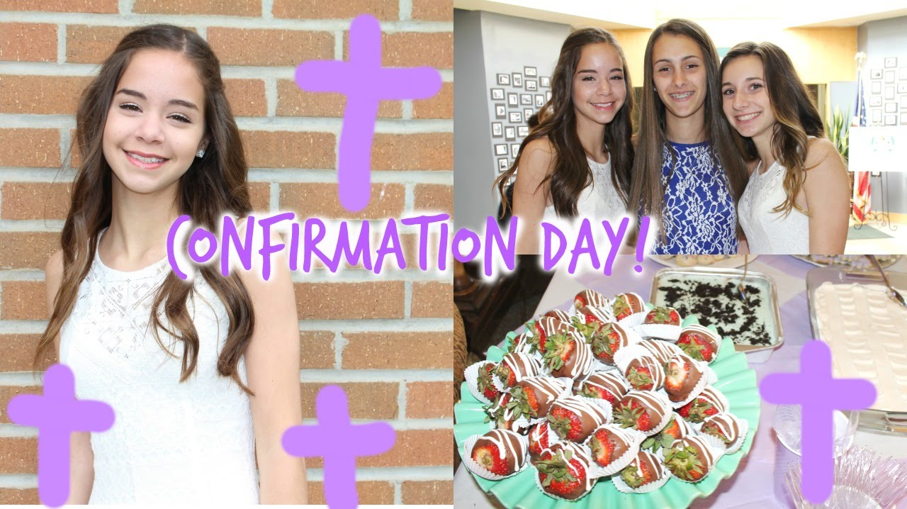 Confirmation Party! Dress, Hair, Makeup! + Updates - YouTube