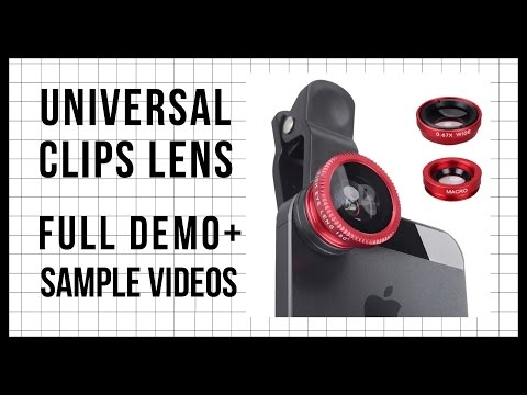Universal 3 in 1 Clip Lens Review + SAMPLE VIDEOS & PHOTOS