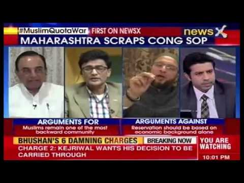 Appeasement or Discrimination Debate on NewsX - Asaduddin Owaisi on MH Muslim Reservation
