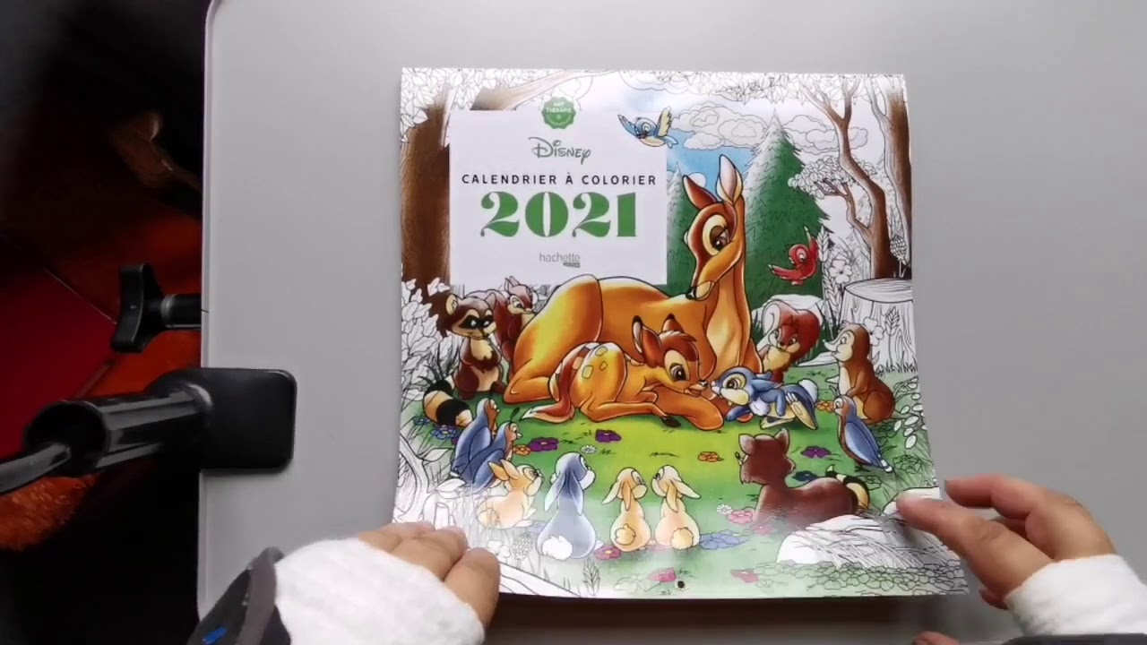 Présentation du Calendrier de Coloriages Disney 2021   YouTube